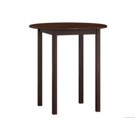MAGNAT Stůl  průměr 70 cm nr.3, masiv borovice/moření ořech