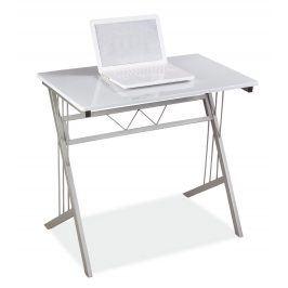 Psací stůl B-120, sklo/kov