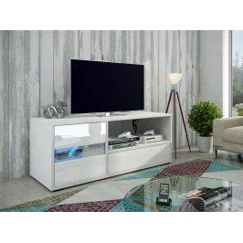 MORAVIA FLAT GLOBAL 1 televizní stolek, bílá/bílý lesk