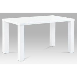 Autronic Jídelní stůl AT-3007 WT 135x80 cm, vysoký lesk bílý