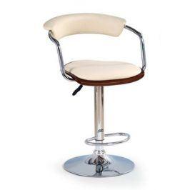 Barová židle ZH-19, třešeň antická/béžová