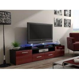CAMA Televizní stolek RTV EVORA, wenge/bordo lesk