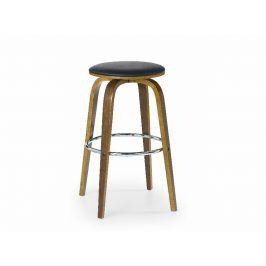 Barová židle ZH-39, ořech/černá