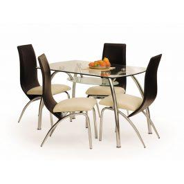 Halmar Jídelní stůl CORWIN BIS, kov/sklo