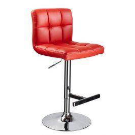 Barová židle C-105, červená