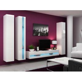 Obývací stěna VIGO NEW 7, bílá/bílý lesk