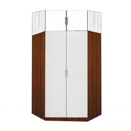Idea Rohová šatní skříň 61550, ořech/bílá