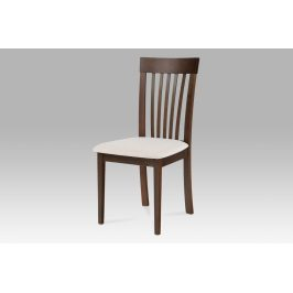 Jídelní židle, ořech, potah krémový BC-3950 WAL