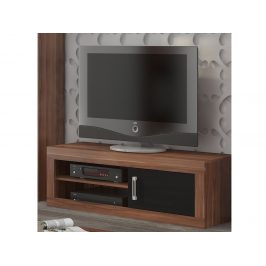 MORAVIA FLAT VERIN/21, televizní stolek 1D, švestka wallis/černý lesk