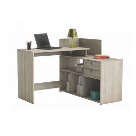 VISTA, univerzální rohový psací stůl, dub shannon, univerzální rohový psací stůl, dub shannon