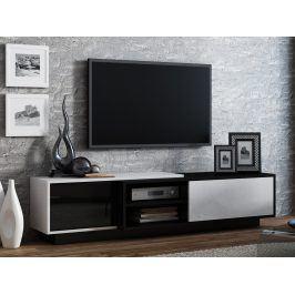 Televizní stolek RTV SIGMA 1B, bílá/černá
