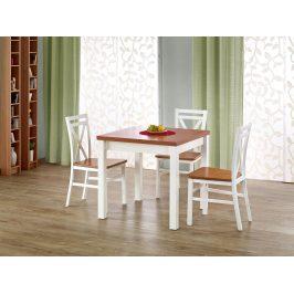 Halmar Jídelní stůl rozkládací GRACJAN, olše/bílá