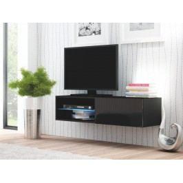 Halmar LIVO RTV-120W televizní stolek visící, černá