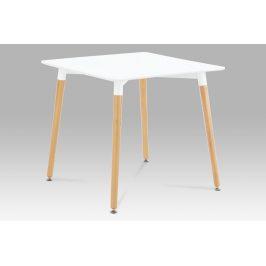 Jídelní stůl DT-706 WT1, bílá / natural