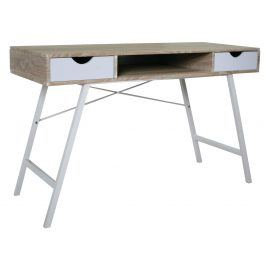 Psací stůl B-140, dub sonoma/bílá