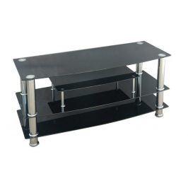 Smartshop Televizní stolek TV-862, kov/černé sklo