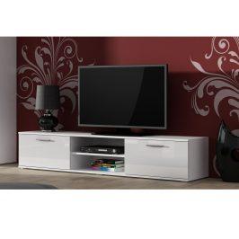 CAMA SOHO, RTV stolek 180 S-3, bílý mat/bílý lesk Stolky pod TV