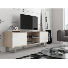 MORAVIA FLAT KING 2 TV stolek, dub sonoma/bílý lesk