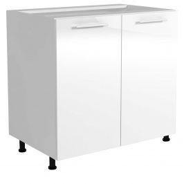Dolní skříňka VENTO D-80/82, dvířka: bílý lesk
