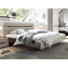 Smartshop HEKTOR postel 160x200 cm TYP 31, dub sonoma tmavý/pískově šedý lesk