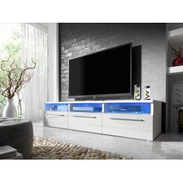 Smartshop Televizní stolek RTV 2, bílá/bílý lesk
