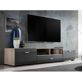 Smartshop CLIF televizní stolek RTV, dub sanremo/grafit mat