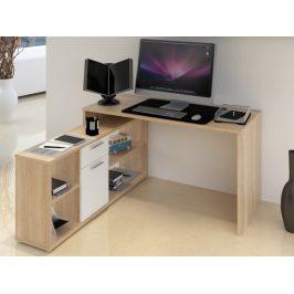 NOE psací stůl, dub sonoma/bílá