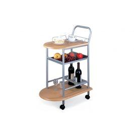 LIMA servírovací stolek, buk/stříbrná
