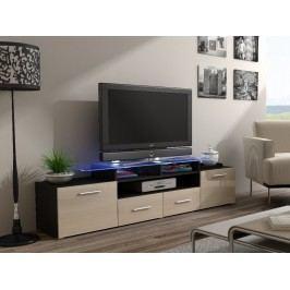 CAMA Televizní stolek RTV EVORA, wenge/krémový lesk