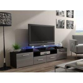 CAMA Televizní stolek RTV EVORA, wenge/šedý lesk