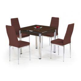Jídelní stůl rozkládací KENT, hnědý