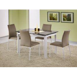 Halmar Jídelní stůl rozkládací ALSTON, béžová/bílá