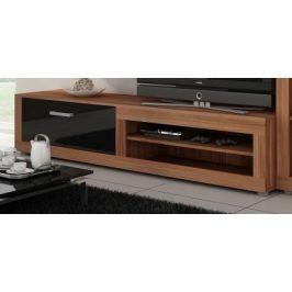 MORAVIA FLAT VIKY, televizní stolek 04, švestka wallis/černý lesk