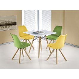Halmar Jídelní stůl PROMETHEUS čtverec, bílá/buk