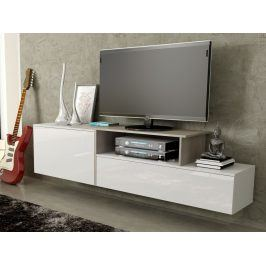 Televizní stolek RTV SIGMA 3B, bílá/dub sonoma