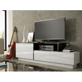 Televizní stolek RTV SIGMA 3A, bílá/černá Stolky pod TV