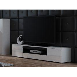 Televizní stolek RTV VIVA, bílá/černá