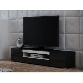 Televizní stolek RTV VIVA, černá/bílá