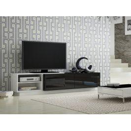 CAMA Televizní stolek RTV SIGMA 2A, bílá/černá