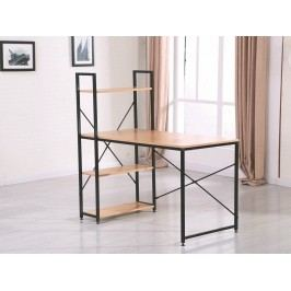 Smartshop Stůl s regálem DINE, dub sonoma