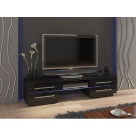 MORAVIA FLAT TV stolek LAGUNA, černá/černý lesk