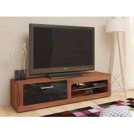 MORAVIA FLAT TV stolek VIKY NEW, švestka wallis/černý lesk Stolky pod TV