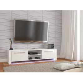 TV stolek HELIX NEW, bílá/bílý lesk