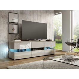 MORAVIA FLAT TV stolek INTER, dub sonoma/bílý lesk