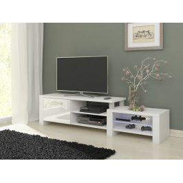 TV stolek ORION, bílá/bílý lesk