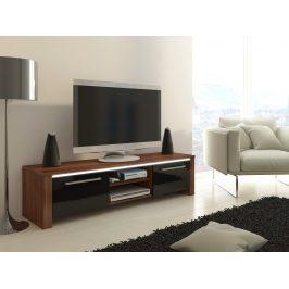 TV stolek HELIX, švestka wallis/černý lesk