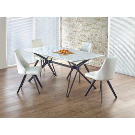 Halmar PASCAL jídelní stůl, bílá/černá