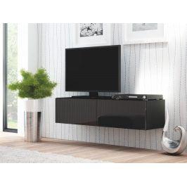 Halmar LIVO RTV-160W televizní stolek visící, černá