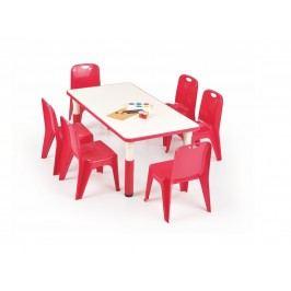 Halmar Dětský stůl SIMBA obdélníkový, červená