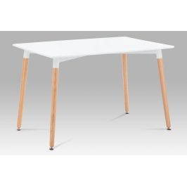 Jídelní stůl DT-705 WT1, bílá / natural